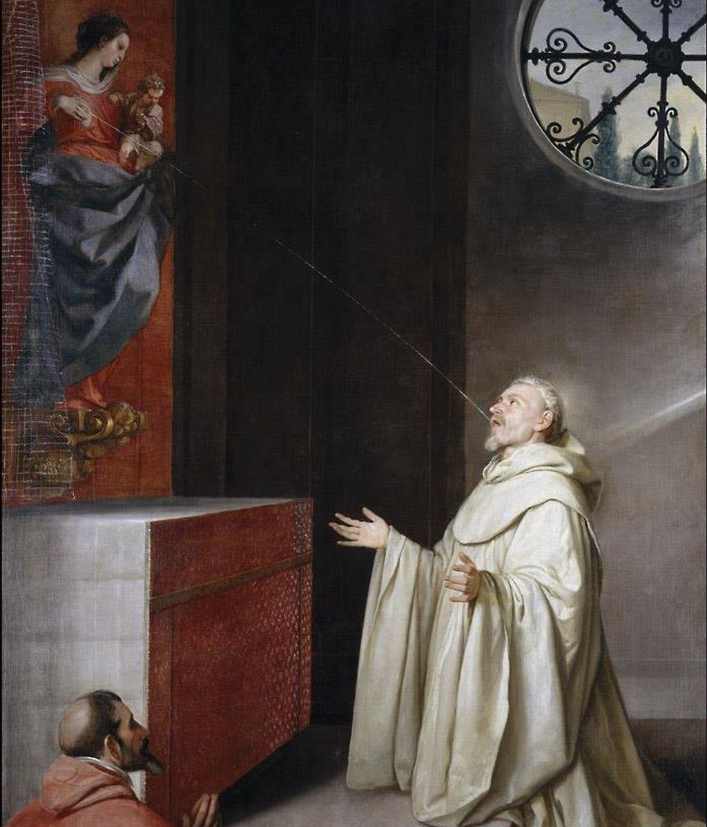 San Bernardo y la Virgen