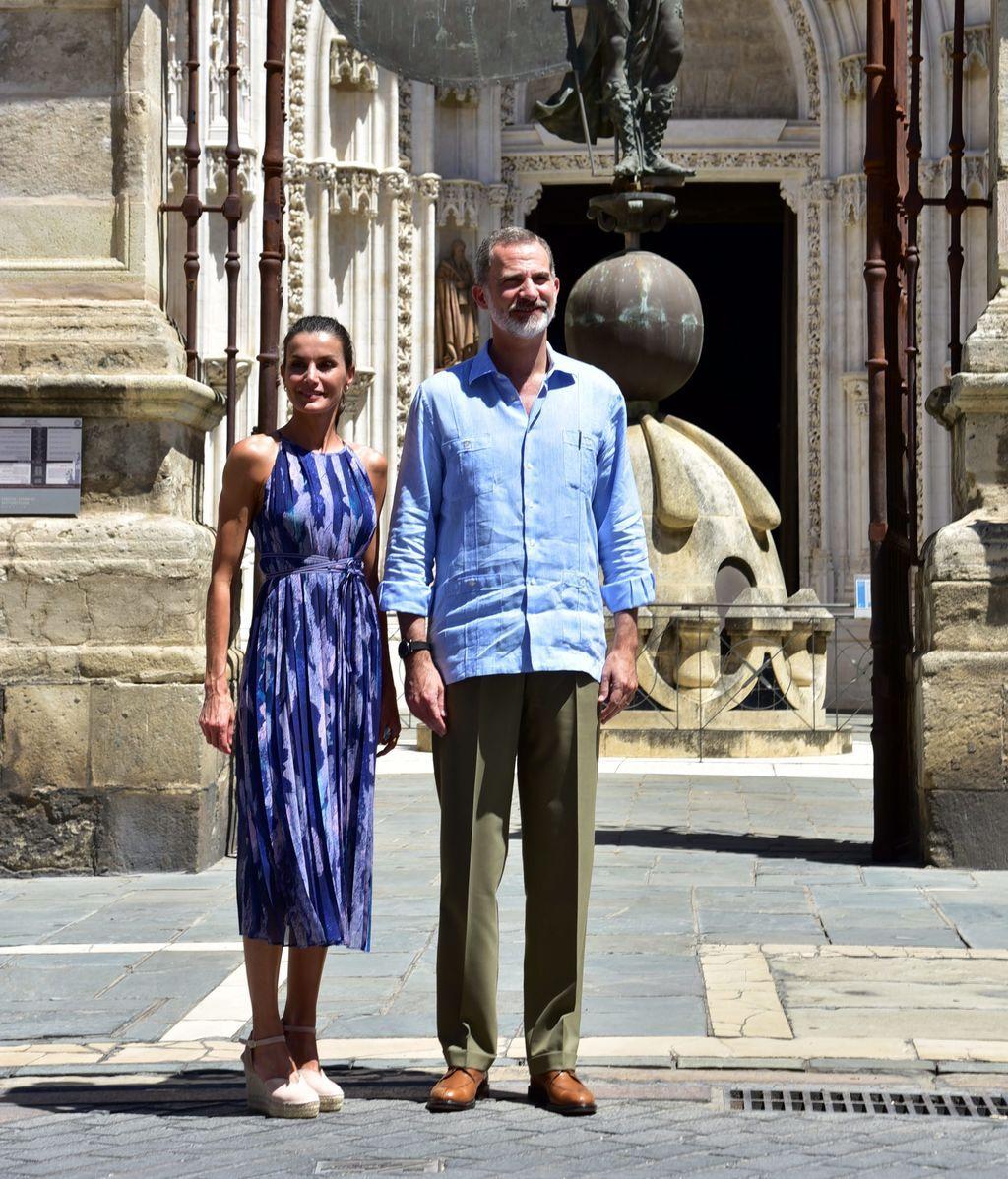 Los reyes de España en su visita a Sevilla