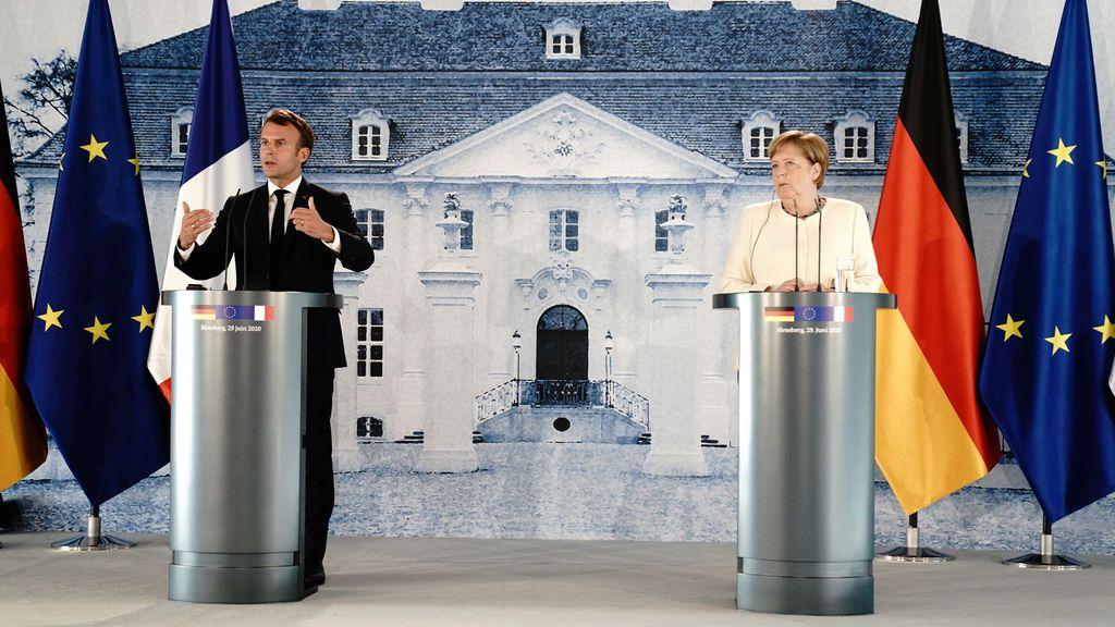 Merkel y Macron se reencuentran en Meseberg para cerrar filas de cara a la presidencia europea de Alemania