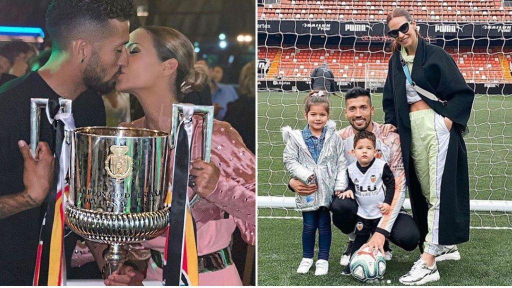"""El mensaje de agradecimiento de Tamara Gorro en el día del adiós de Garay al Valencia: """"Gracias por tanto, sois muy grandes"""""""