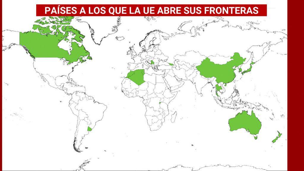 Europa abre sus fronteras a 15 países, pero deja por fuera a Estados Unidos, Rusia y Brasil