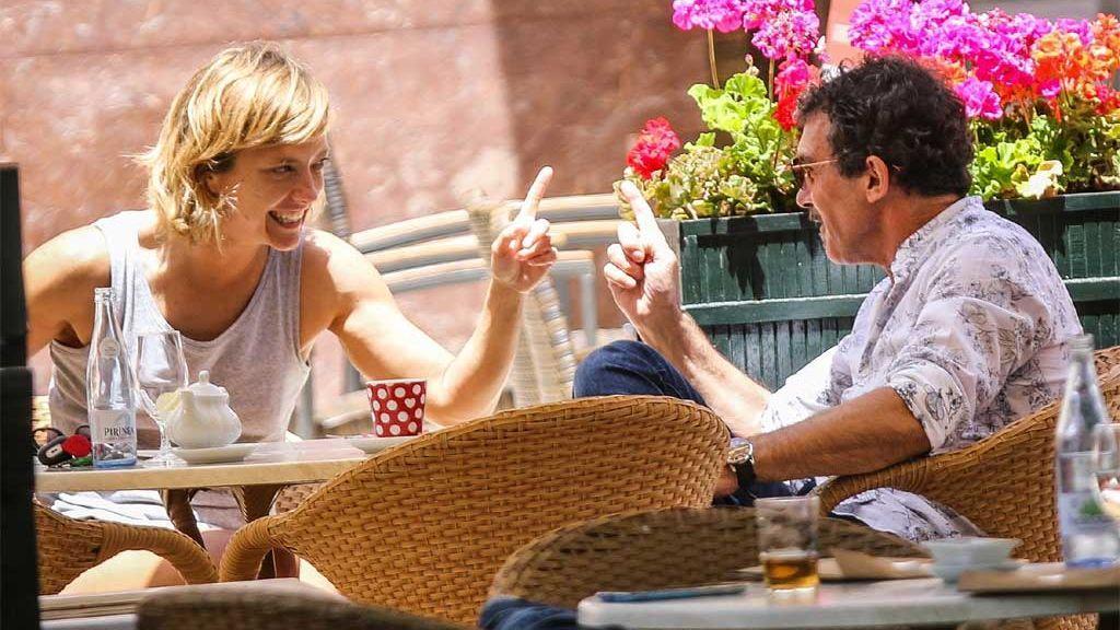 María Casado y Antonio Banderas, hablando de los detalles de su proyecto en Málaga