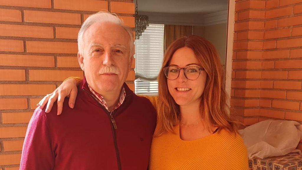 Marcos Gonzáles y su hija Paula