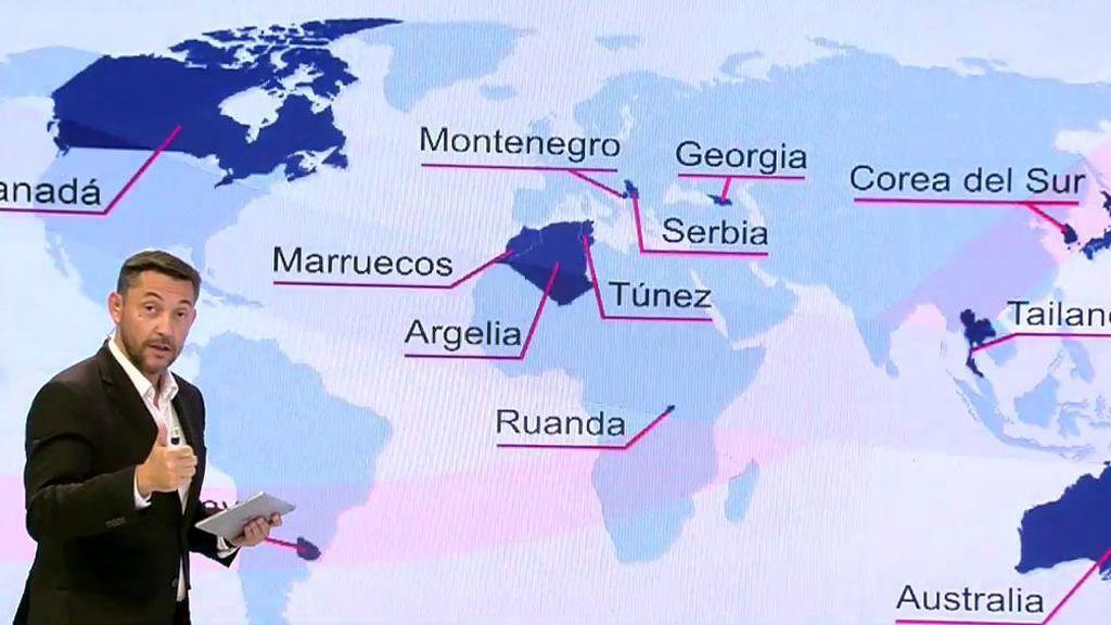 Javier Ruiz explica a qué países podemos viajar y a cuáles no tras la reapertura de fronteras