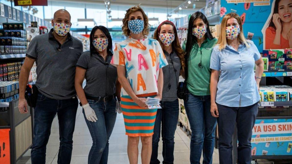 Las mascarillas solidarias de Ágatha Ruiz de la Prada, a la venta en Lidl a partir de este jueves