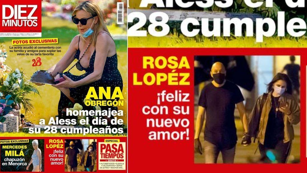 Rosa López y su novio, en portada