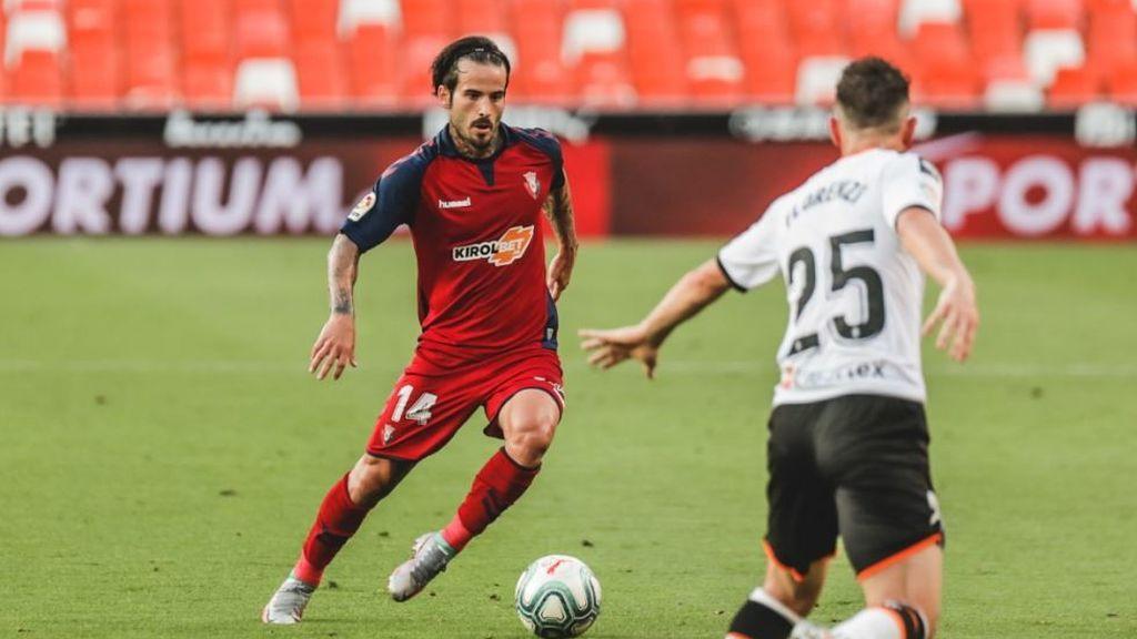 Rubén García jugando un partido