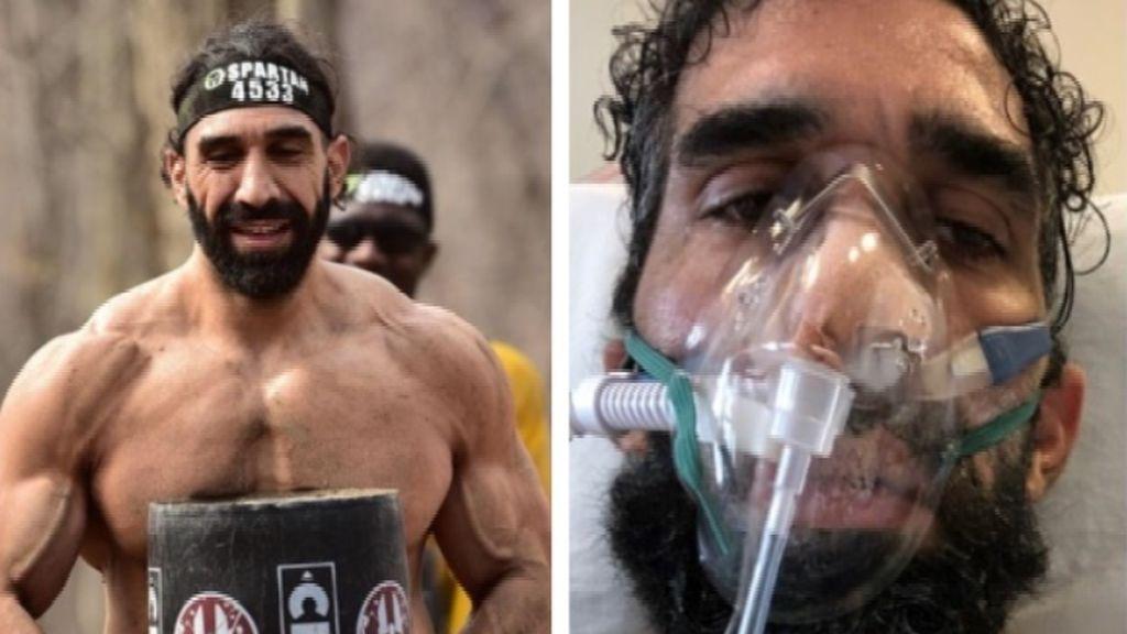 El increíble cambio físico de un deportista que a punto estuvo de morir por el COVID-19