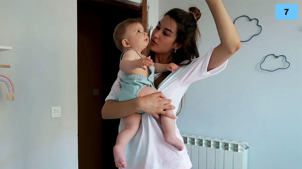 Estela Grande se convierte en madre por un día y se sincera sobre tener un hijo (2/2)