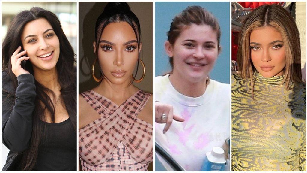 Kardashians: así son con y sin maquillaje.