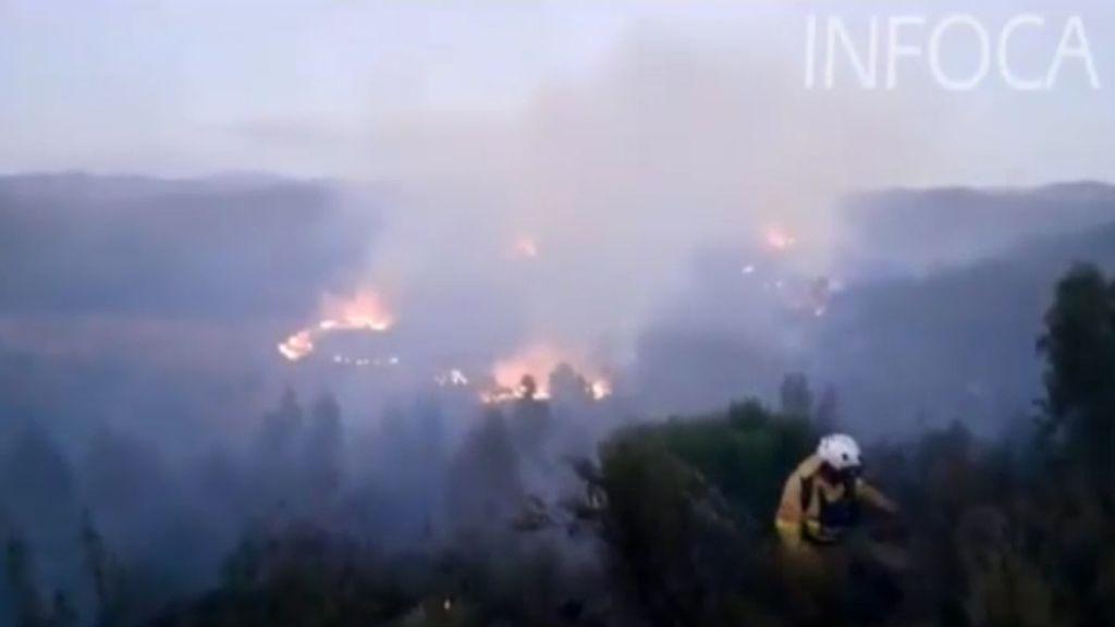 Incendio en la sierra de Huelva