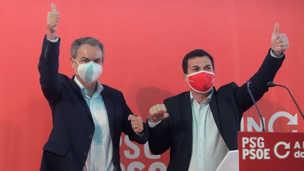 José Luis Rodríguez Zapatero, en un mitin en Galicia