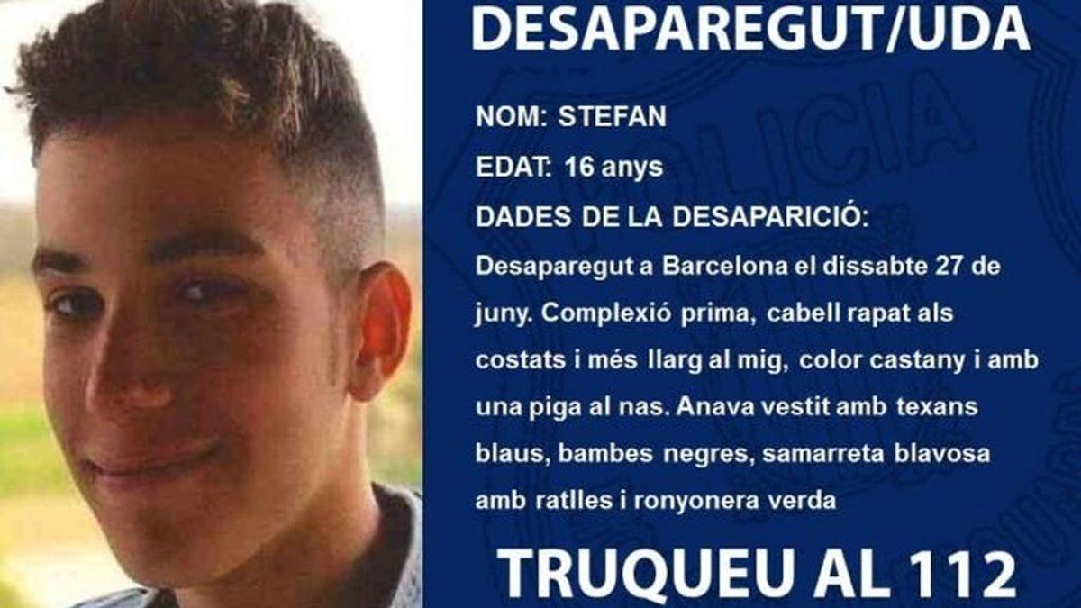 Buscan a Stefan, un menor de 16 años desaparecido desde el 27 de junio en Barcelona
