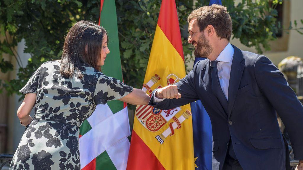 Casado y Arrimadas cargan en Gernika contra el PNV por sus contactos con Bildu y su apoyo al Gobierno de Sánchez