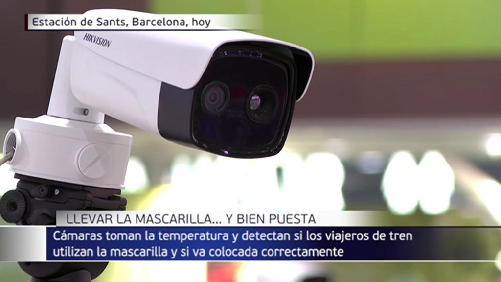 Camaras Para Controlar El Uso De Mascarilla En La Estacion De Sants Telecinco