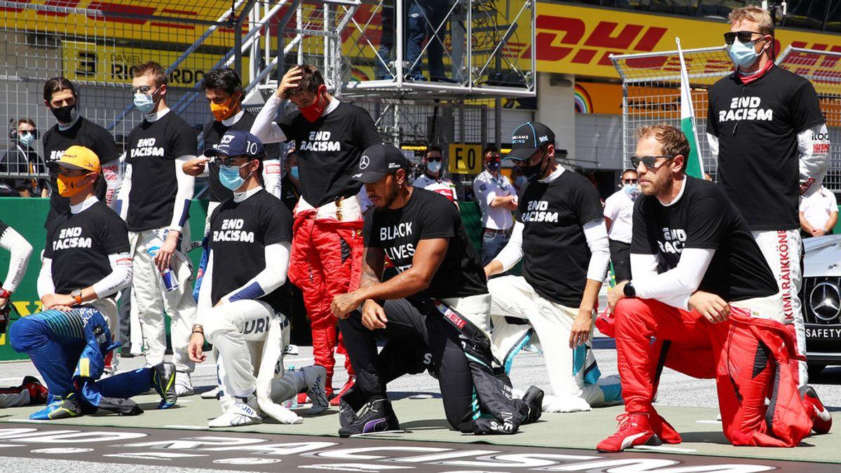 Los pilotos de Fórmula 1 muestran su repulsa al racismo: Sainz y otros cuatro optan por no arrodillarse