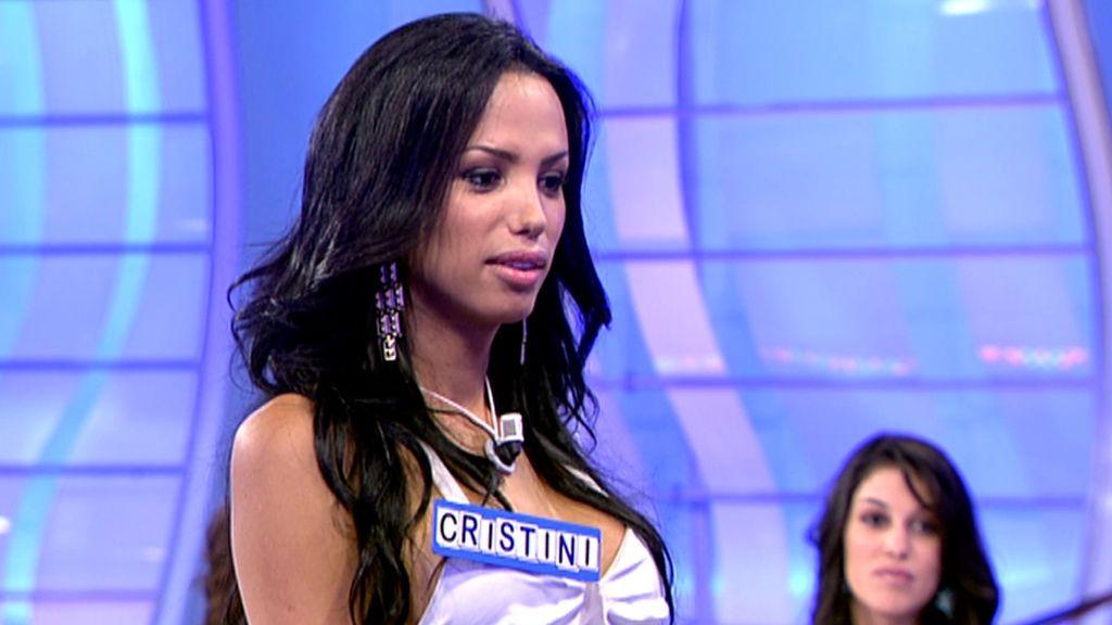 """El pasado de Cristini en 'MyH': de sus """"besos"""" con Santana, a los dos tronistas que pretendió"""