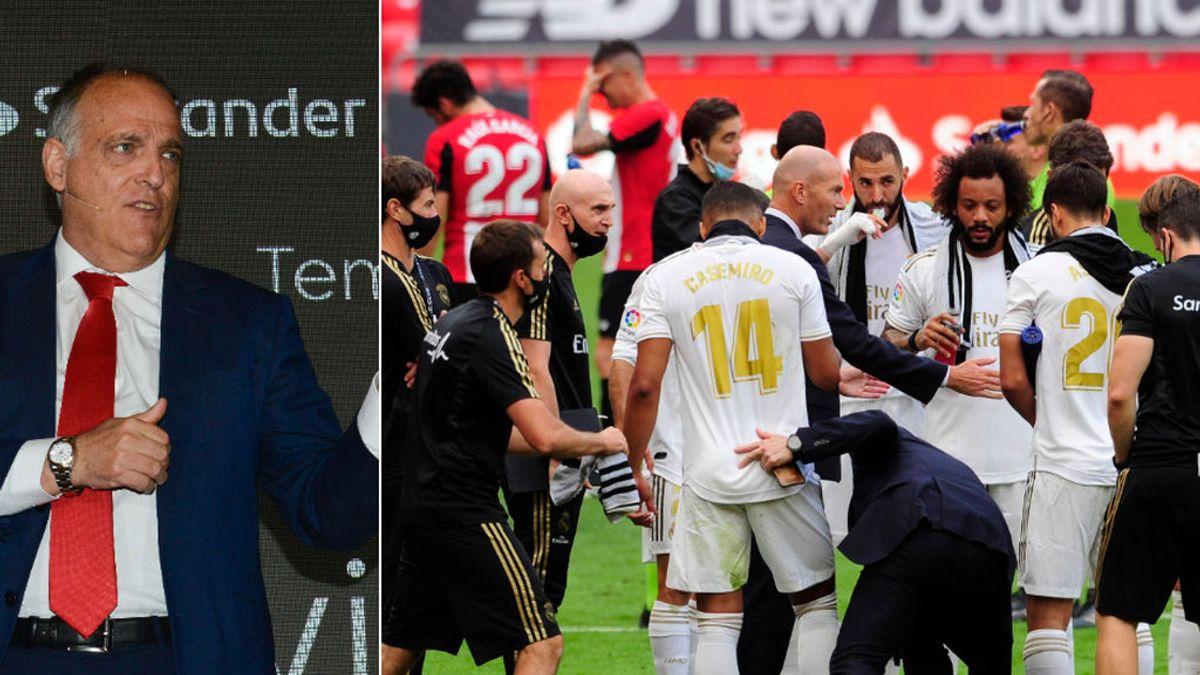"""Javier Tebas se defiende de las críticas del fútbol a las dos: """"Sólo son quejas de los entrenadores"""""""
