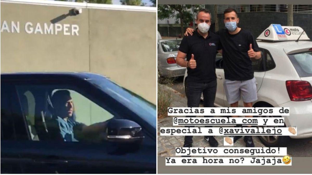 """La prensa británica se ríe de Jordi Alba tras sacarse el carnet de conducir con 31 años: """"Vaya alivio para su padre"""""""