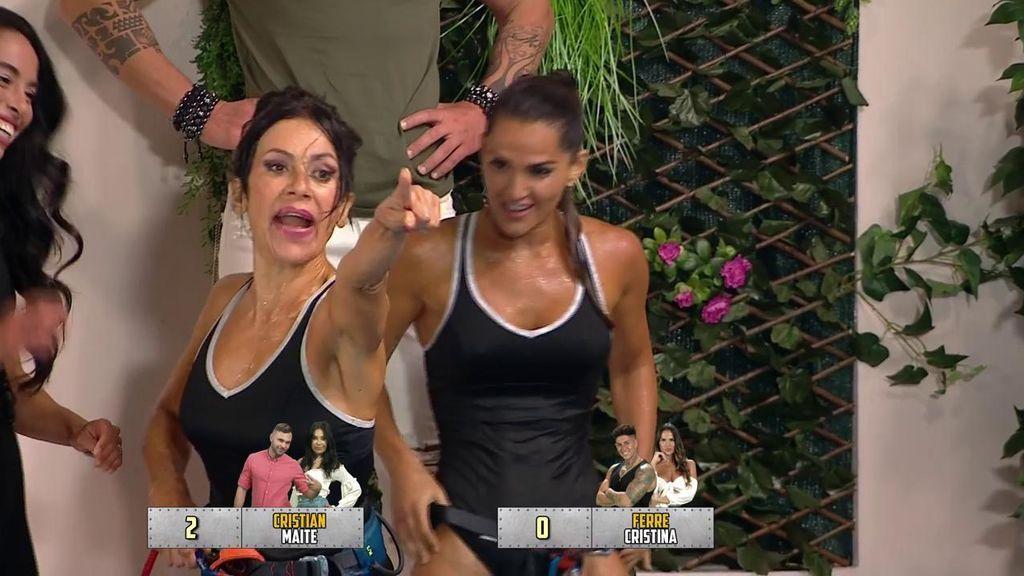 """Maite Galdeano dedica el juego de asaltantes a Jorge Javier y advierte a Fani: """"Te demandaré"""""""