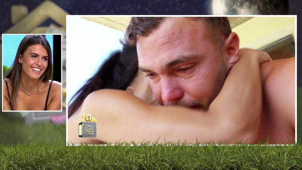 Maite abraza a Cristian