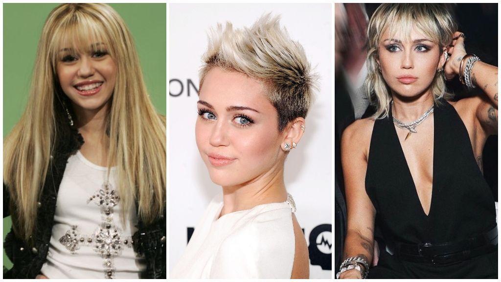 El cambio físico de Miley Cyrus.