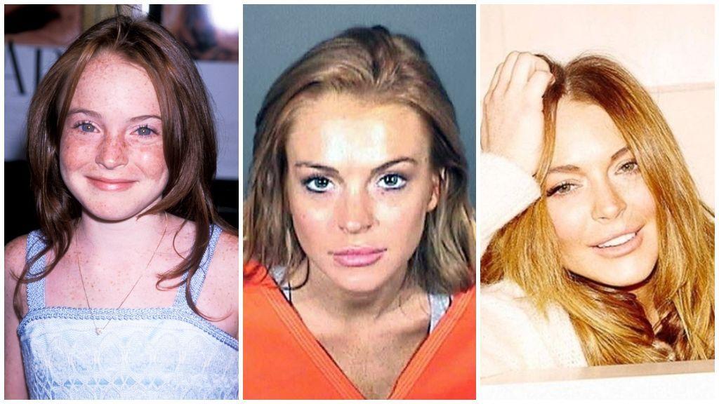 Y Lindsay Lohan, que fue detenida en más de una ocasión.