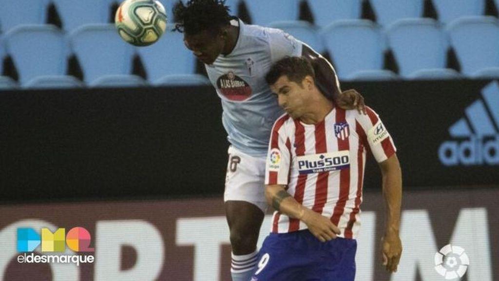 Aidoo y Morata, en el Celta-Atlético de Madrid