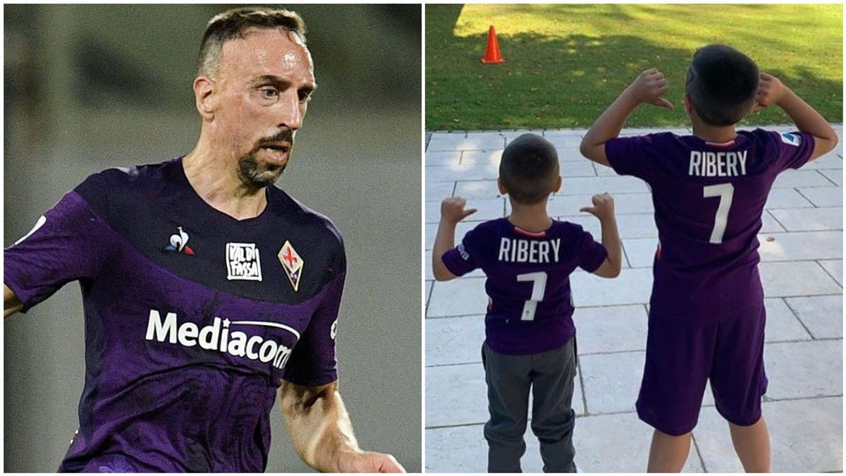 Ribery, con la Fiorentina, y sus hijos en Instagram.