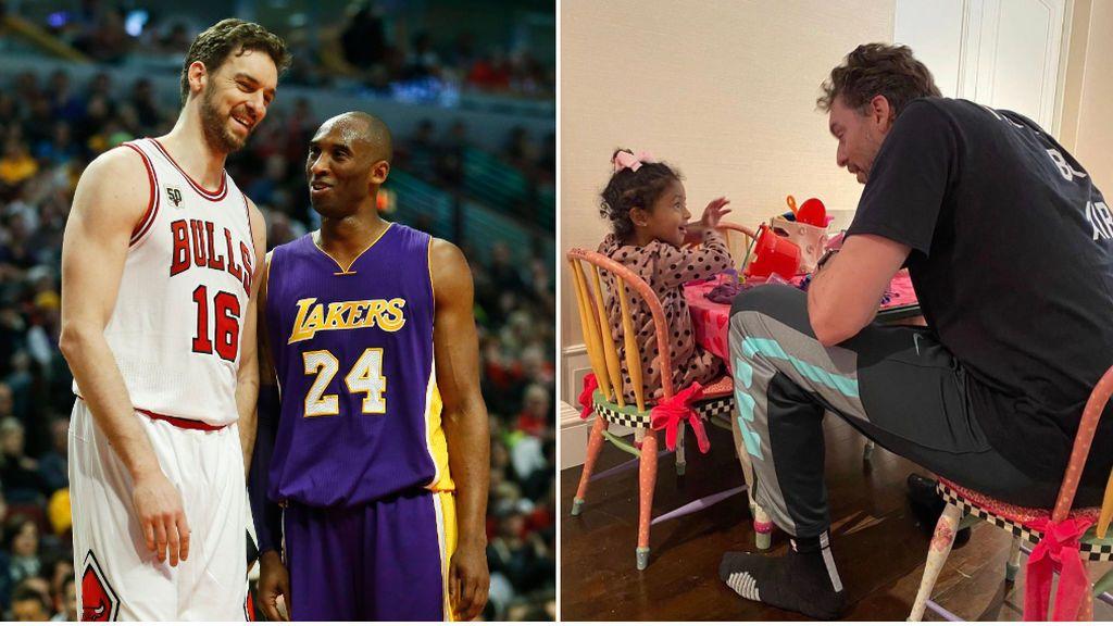 El detalle de Pau Gasol con las hijas de Kobe Bryant: quiso pasar su 40 cumpleaños junto a ellas