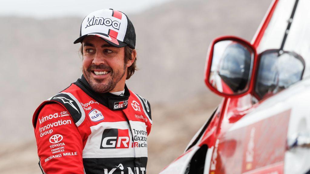Fernando Alonso, durante una etapa del Dakar 2020.