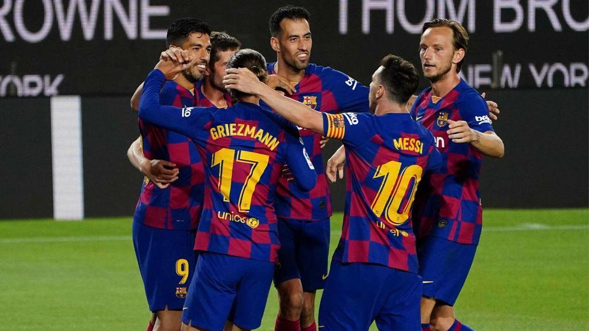 El Barça sigue en la pelea por La Liga y el Espanyol ya es equipo de segunda (1-0)