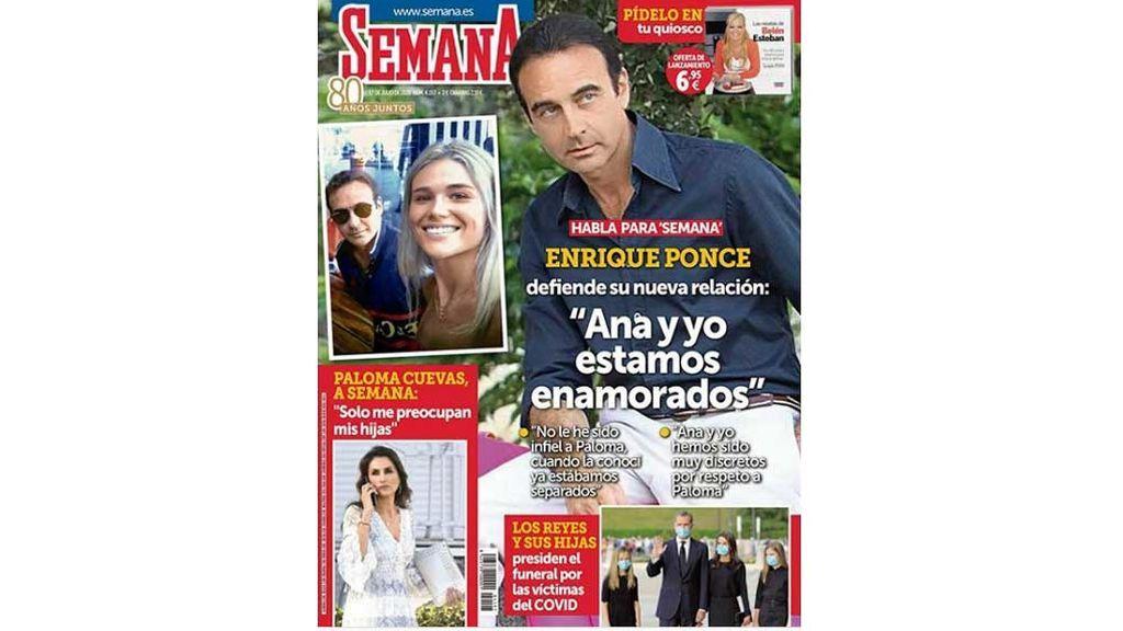 Enrique Ponce, portada de Semana por su divorcio de Paloma Cuevas