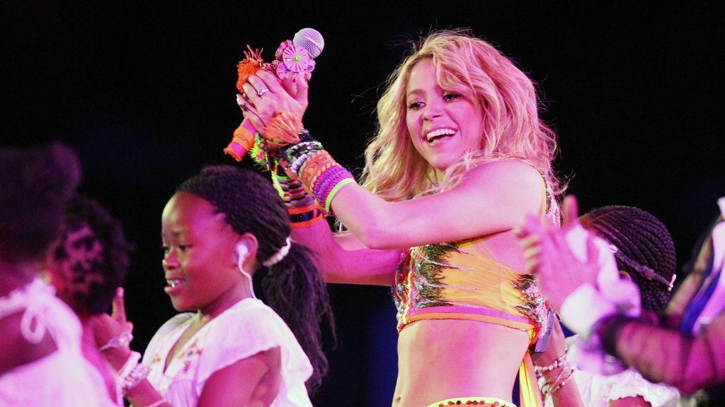 Shakira actuando en la final del Mundial de Sudáfrica