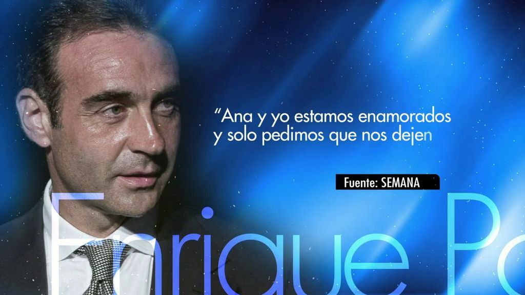 """Enrique Ponce: """"Ana y yo estamos enamorados"""""""
