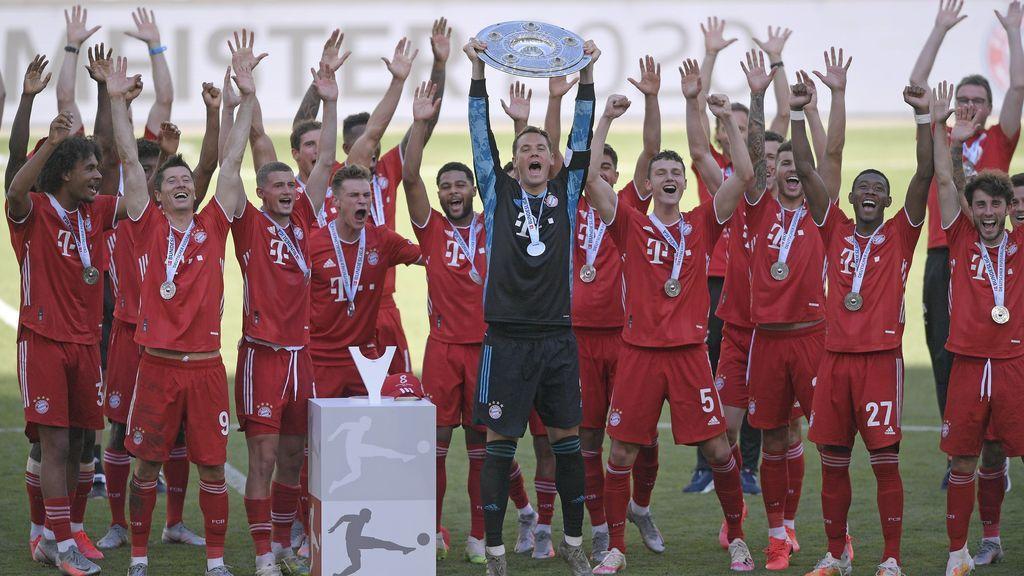 Bayern celebrando un título de la Bundesliga