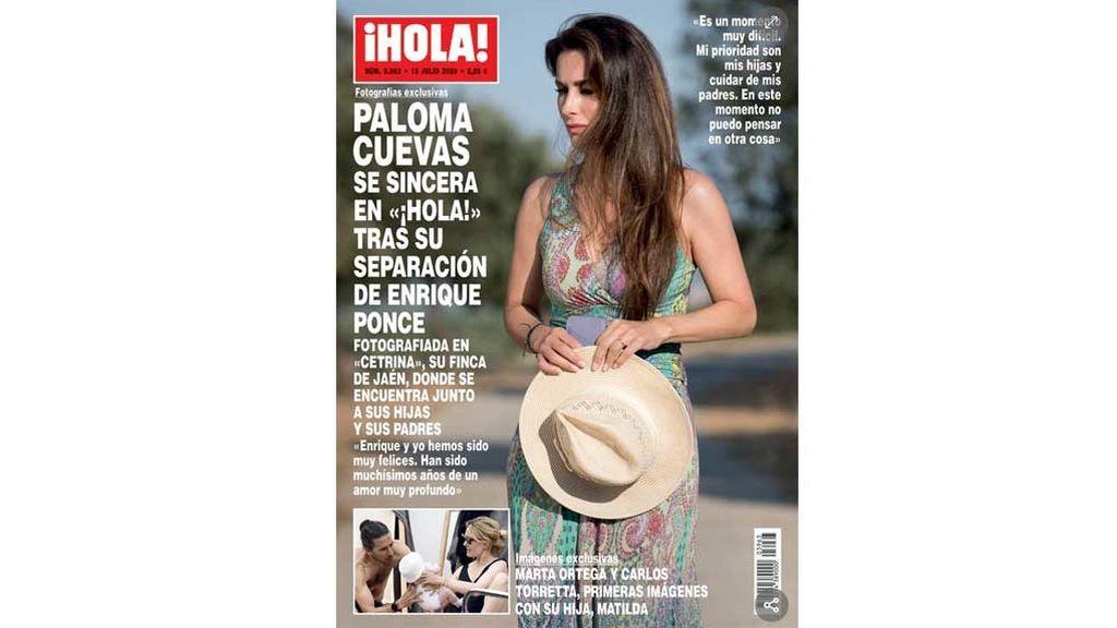 Paloma Cuevas, portada de ¡Hola! por su divorcio de Enrique Ponce