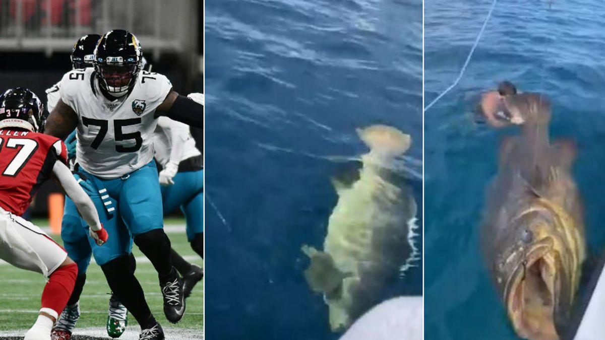 "Una estrella de la NFL pesca un 'Goliat', un pez de 182 kilos: ""Es como parar un autobús"""