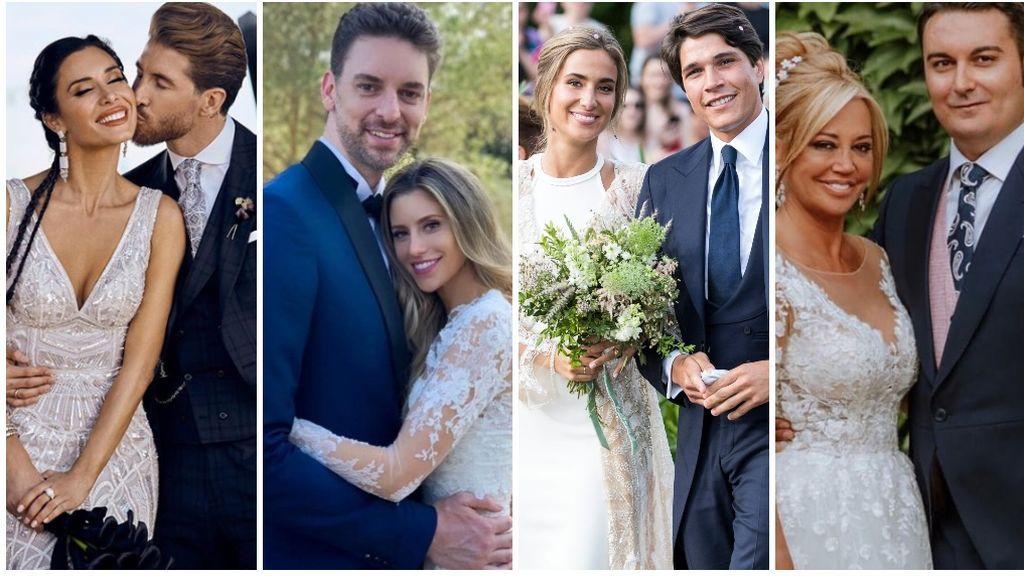 Un verano sin bodas de famosos: recordamos las mejores fotos de las últimas bodas vip.