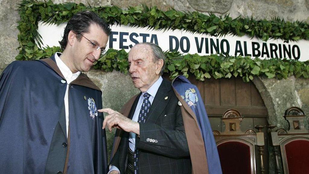 Feijóo con Manuel Fraga en la fiesta del Albariño en 2011