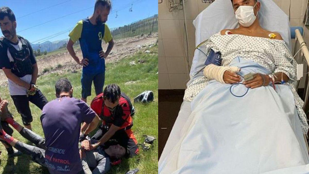 """Purito sufre un accidente en mountain bike y lamenta su mala suerte: """"Otra vez"""""""