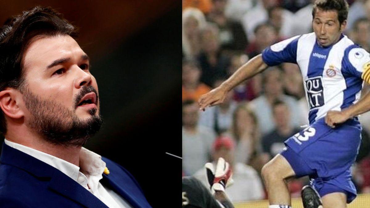 """Gabriel Rufián anima al Espanyol con recuerdos del 'Tamudazo': """"Volveremos"""""""