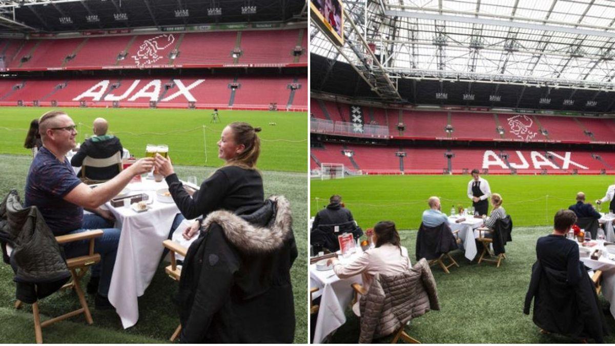 El Ajax convierte su estadio en un gran restaurante para reducir las pérdidas tras la suspensión de la liga holandesa