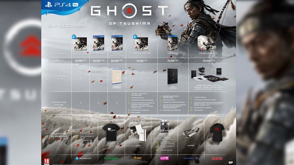 Ghost of Tsushima ediciones