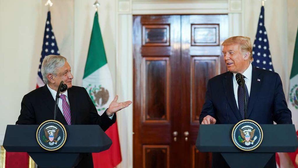Trump y el presidente mexicano López Obrador estrechan relaciones