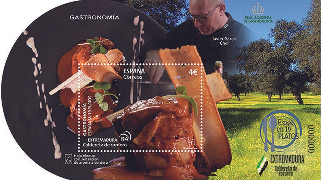 Para chuparse los sellos: Correos lanza una serie de sellos con olores y sabores a cordero, fabada o gazpacho