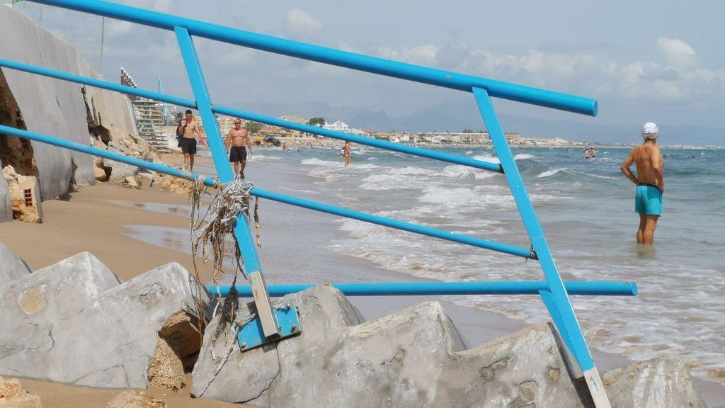 Playas de Denia destrozadas