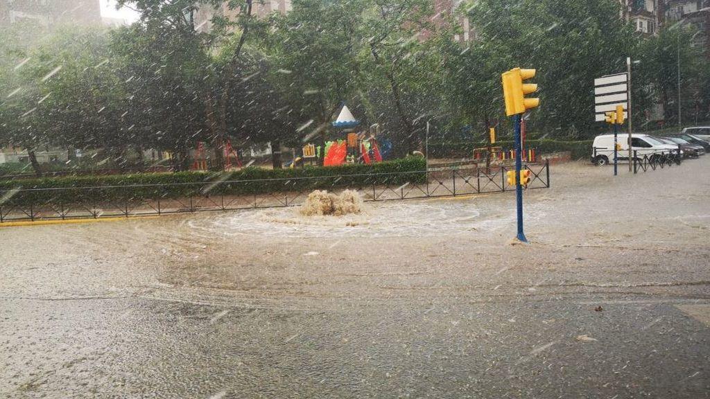 Inundaciones en Madrid por una monumental tromba de agua