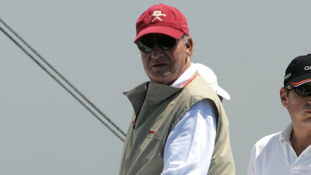 El rey Juan Carlos de regatas en Mallorca