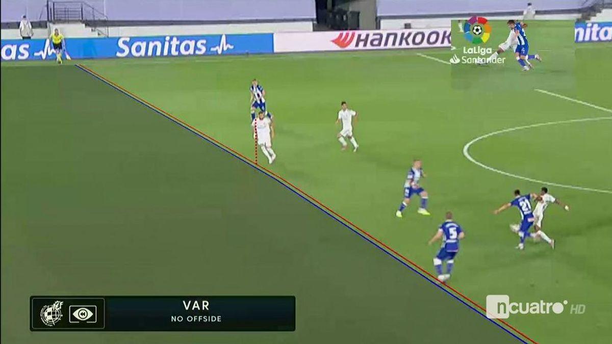 El Real Madrid vuelve a ganar con polémica: un penalti a favor y el segundo gol al filo del fuera de juego